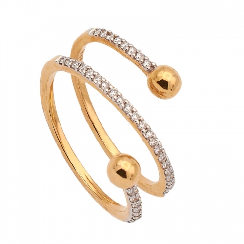 Sortija oro rosa y diamantes  - 1
