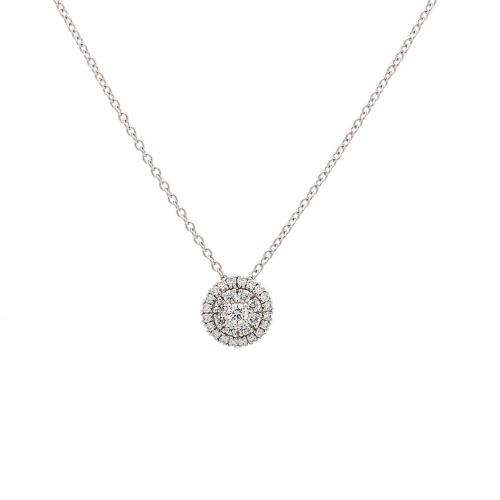 Cadena de oro blanco y diamantes  - 1